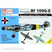 AZ7625 AZ Model 1/72 Самолет Messerschmitt Bf 109G-6