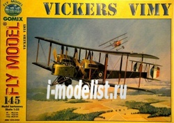 "1:33 Vickers /""Vimy/"" Model Card 14"